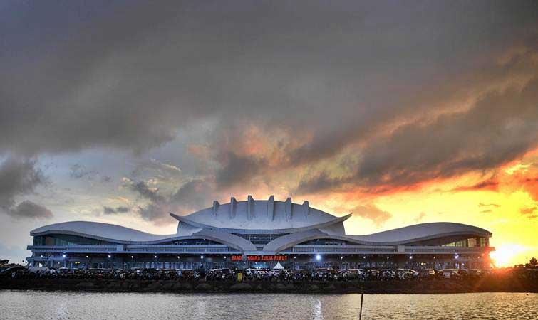 Bandara Tjilik Riwut di Palangka Raya, Kalimantan Tengah./Antara - Puspa Perwitasari