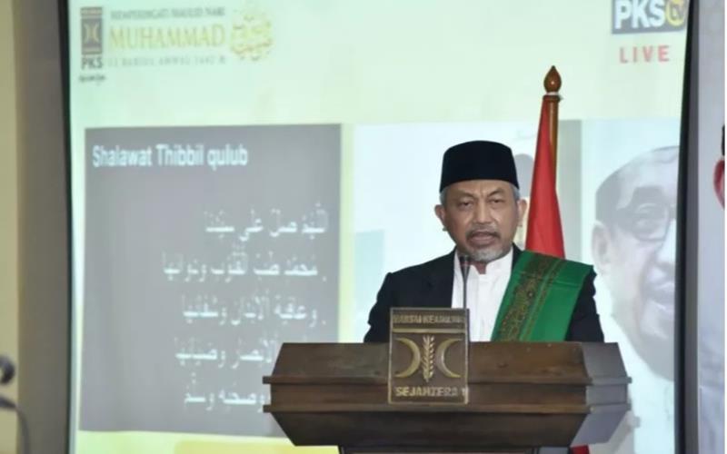 Presiden Partai Keadilan Sejahtera (PKS) Ahmad Syaikhu. - Antara