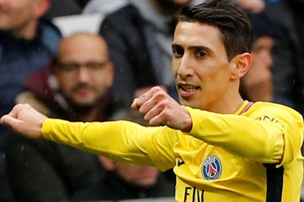 Gelandang serang Paris Saint-Germain Angel di Maria - Reuters