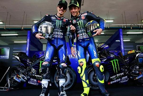 Maveric Vinales (kiri) dan Valentino Rossi. - Instagram