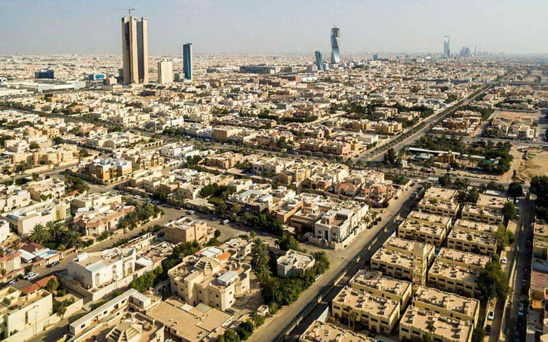 Perumahan dan gedung tinggi di Riyadh, ibu kota Arab Saudi. / Bloomberg - Waseem Obaidi