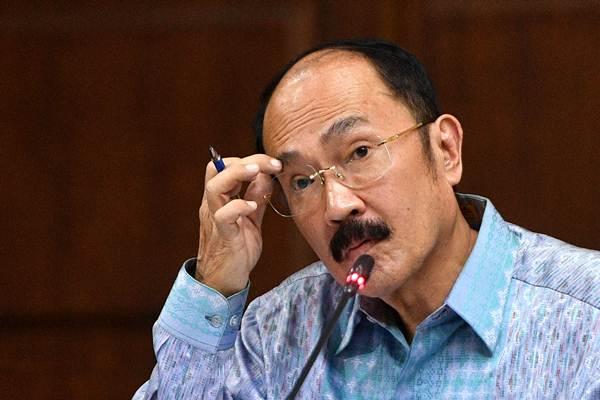 Fredrich Yunadi menjalani sidang lanjutan di Pengadilan Tipikor, Jakarta, Jumat (18/5/2018). - ANTARA/Sigid Kurniawan