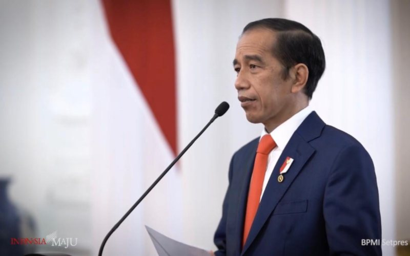 Presiden Joko Widodo menyampaikan sambutan dalam Puncak Acara Peringatan hari Sumpah Pemuda Ke/92 dan Peresmian TVRI Stasiun Papua Barat, Rabu 28 Oktober 2020 / Youtube Sekretariat Presiden
