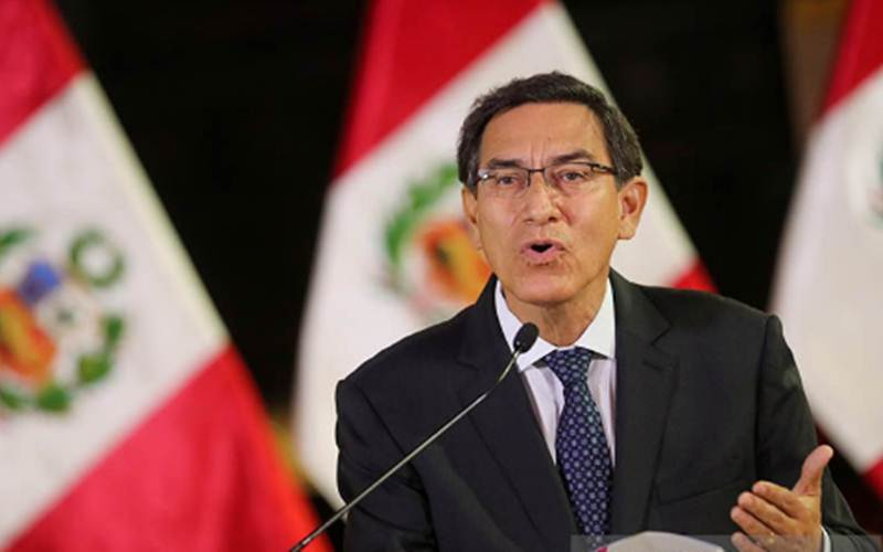 Presiden Peru Martin Vizcarra/Antara-Reuters - HO/Peruvian Presidency