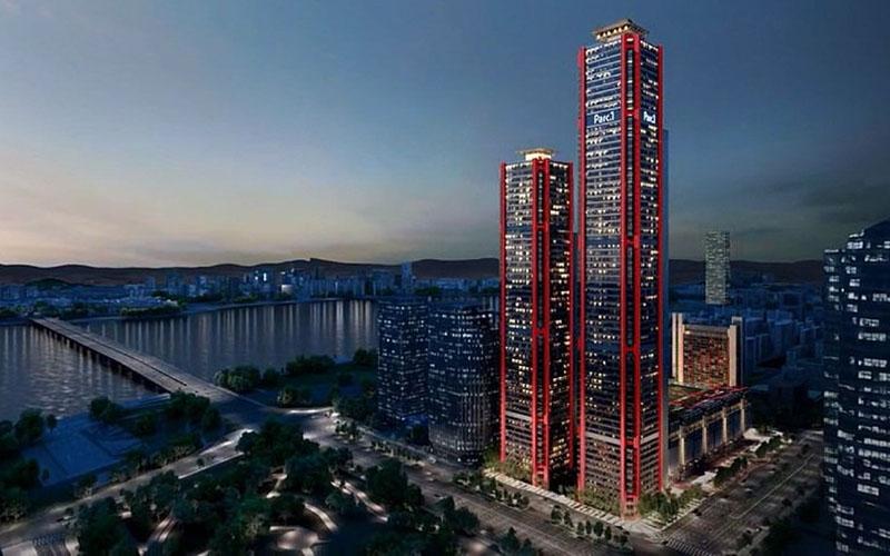 Dua tower perkantoran Parc1 di Seoul, Korea Selatan. - Labs Seoul