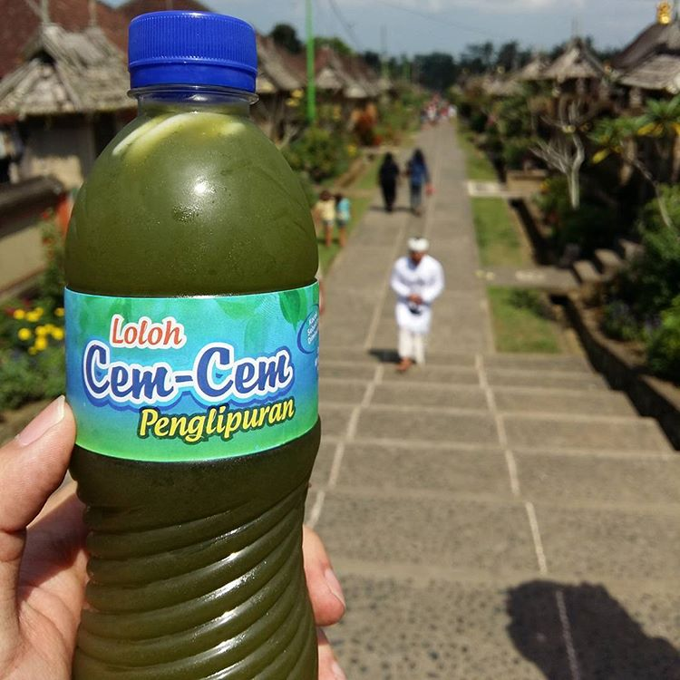 Minuman loloh cem/cem dari Desa Penglipuran