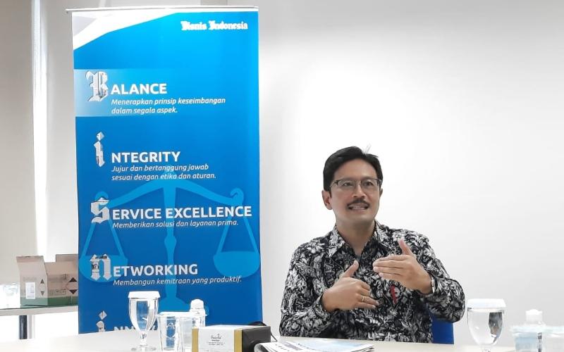President Director Indonesia Infrastructure Finance Reynaldi Hermansjah saat berkunjung ke Bisnis Indonesia, Jumat (13/11/2020) - Bisnis