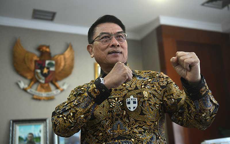 Kepala Staf Kepresidenan Moeldoko menjawab pertanyaan saat wawancara khusus dengan ANTARA di Jakarta, Senin (29/6/2020). ANTARA FOTO - Akbar Nugroho Gumay