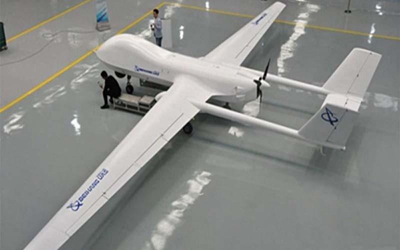 Ilustrasi pesawat tanpa awak, UAV (unmanned aerial vehicle) berjenis BZK-00. - Dok. Istimewa