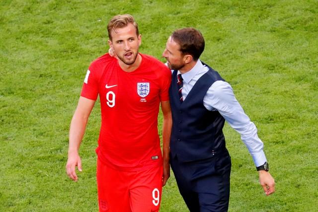 Harry Kane bersama pelatih Inggris, Gareth Southgate - Reuters