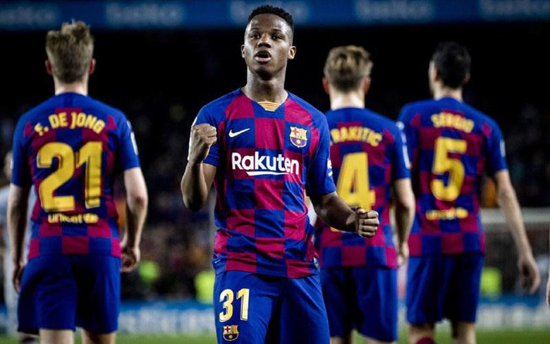 Penyerang Barcelona Ansu Fati - FCBarcelona.com