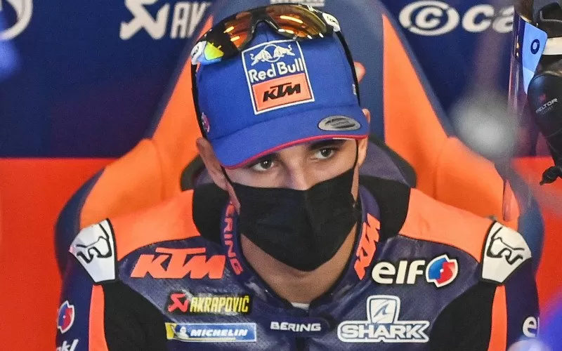 Pebalap tim KTM Tech3 Iker Lecuona  - Antara