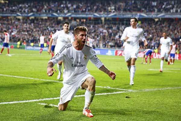Kapten Real Madrid Sergio Ramos/Reuters - Kai Pfaffenbach