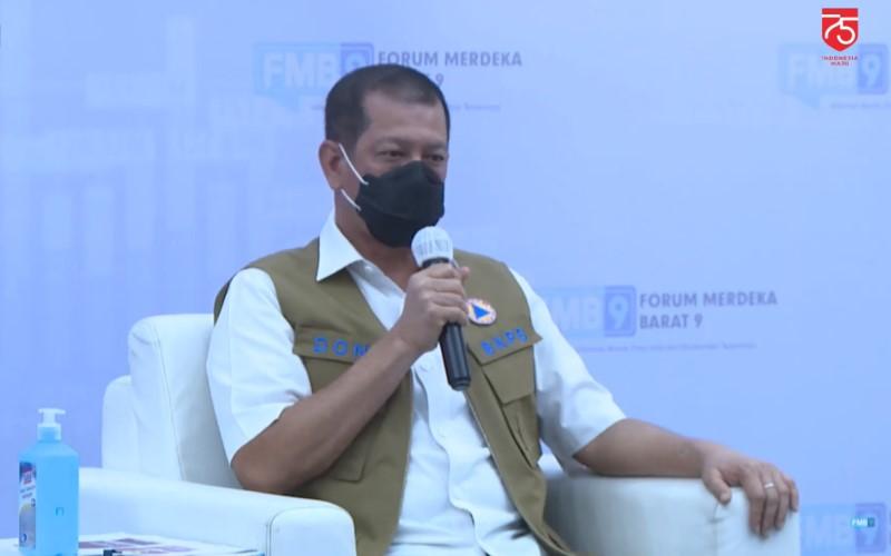 Ketua Satuan Tugas Penanganan Covid-19 Doni Monardo saat menjadi pembicara pada diskusi virtual, Sabtu (15/8/2020). - Kominfo