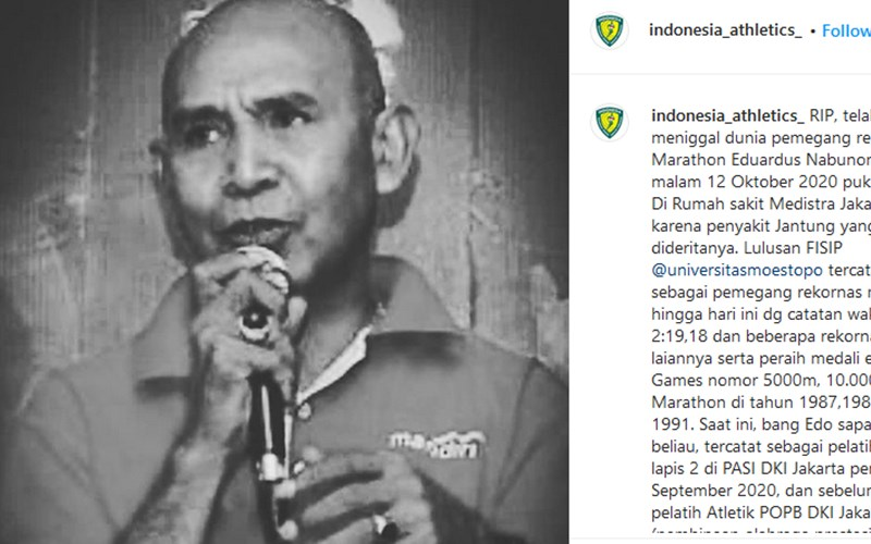 Eduardus Nabunome - Instagram @Indonesia_athletics_