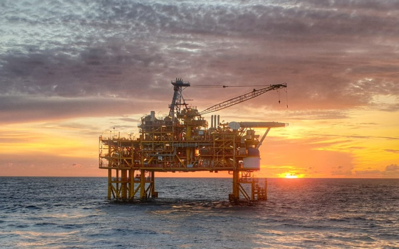 Platform offshore migas. Istimewa - SKK Migas
