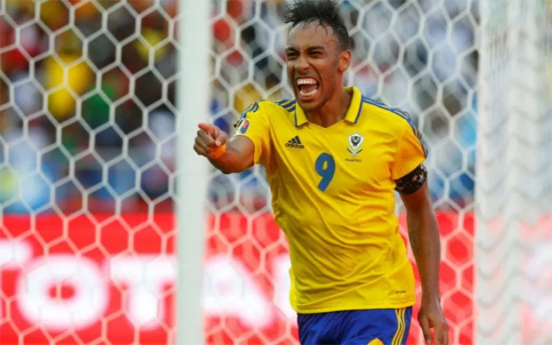 Striker dan kapten Timnas Gabon Pierre-Emerick Aubameyang Gabon./Antara - Reuters