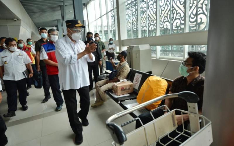Menteri Perhubungan Budi Karya Sumadi saat melakukan kunjungan kerja ke Medan, Sumatera Utara. - Kemenhub