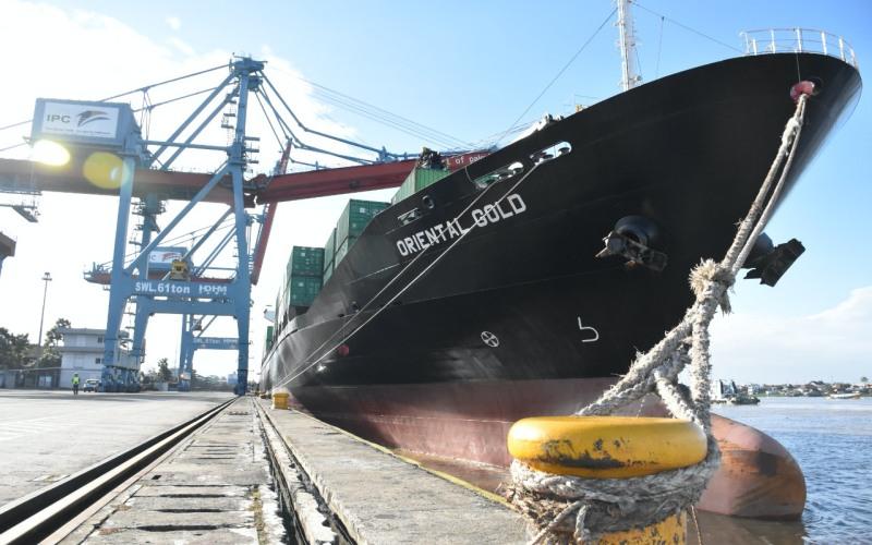 Kapal KM Oriental Gold milik PT Salam Pacific Indonesia Line yang bersandar di Pelabuhan Boom Baru Palembang. istimewa