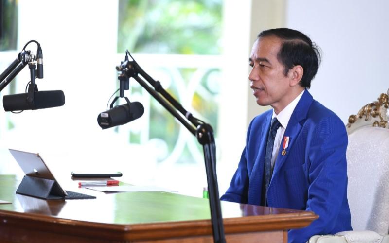 Presiden Joko Widodo menghadiri Konferensi Tingkat Tinggi (KTT) ke-11 ASEAN-PBB yang diselenggarakan secara virtual. - Biro Pers Sekretariat Presiden/Lukas