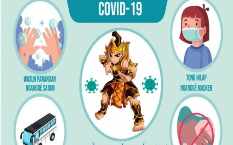 Poster edukasi pencegahan COVID-19 menggunakan bahasa sehari-hari anak-anak SDN Cikoneng (ANTARA - Foto: Humas UI)