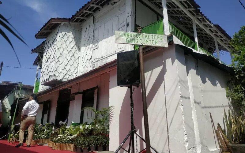 Kampung Lawang Seketeng di Kelurahan Peneleh, Kota Surabaya, Jawa Timur menjadi salah satu destinasi wisata heritage yang diresmikan saat peringatan Hari Pahlawan 2019. - Antara/Humas Pemkot Surabaya.
