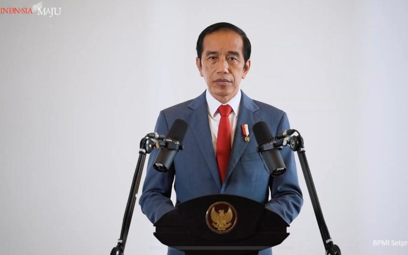 Presiden Joko Widodo menyampaikan pidato pada APEC CEO Dialogues 2020 secara virtual pada Kamis, 19 November 2020 / Youtube Setpres