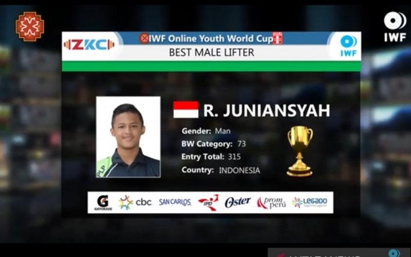 Rizky Juniansyah Dinobatkan Jadi Lifter Remaja Terbaik di Kejuaraan Dunia  - Antara