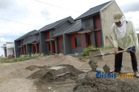 Ilustrasi: Pembangunan rumah bersubsidi. - Bisnis
