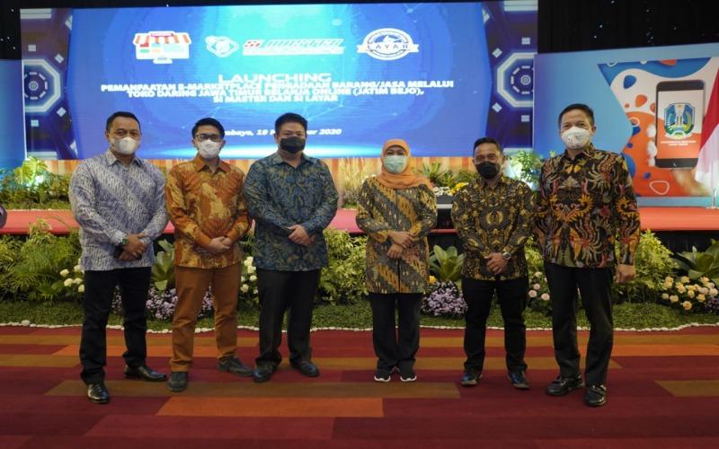 Peluncuran program Jatim Bejo (Jawa Timur Belanja Online) di Surabaya, Kamis (19/11/2020). - Istimewa/mbizmarket