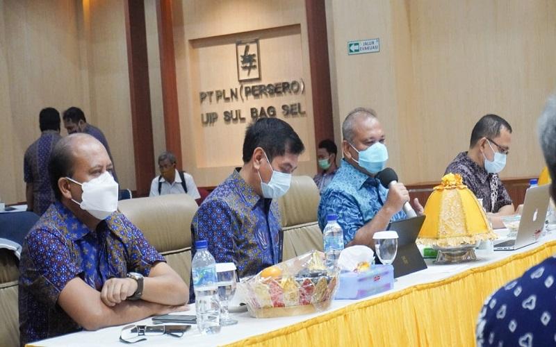 Rapat Koordinasi Evaluasi Progres Sertifikat PLN bersama KPK dan Badan Pertanahan Nasional (BPN) Sulsel, Kamis (19/11/2020) - Istimewa