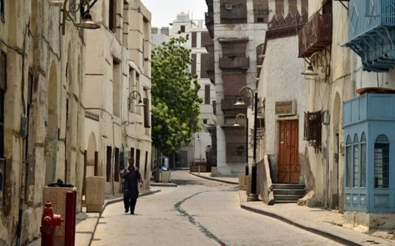 Suasana Al Balad, yang sering disebut sebagai Kota Tua Jeddah, Arab Saudi, Minggu (2/9/2018). - Antara\r\n\r\n