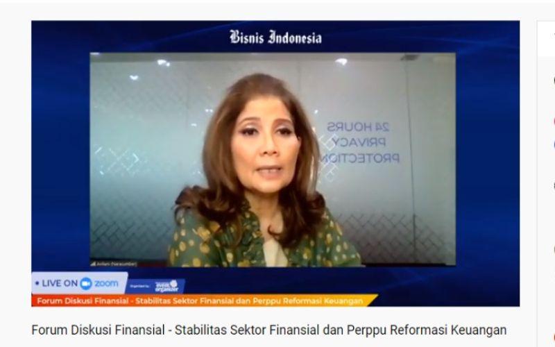 Ketua Bidang Pengkajian dan Pengembangan Perbanas Aviliani menjadi salah satu pembicara dalam Forum Diskusi Finansial Stabilitas Sektor Finansial dan Perppu Reformasi Keuangan, Selasa (1/9 - 2020)/ Bisnis