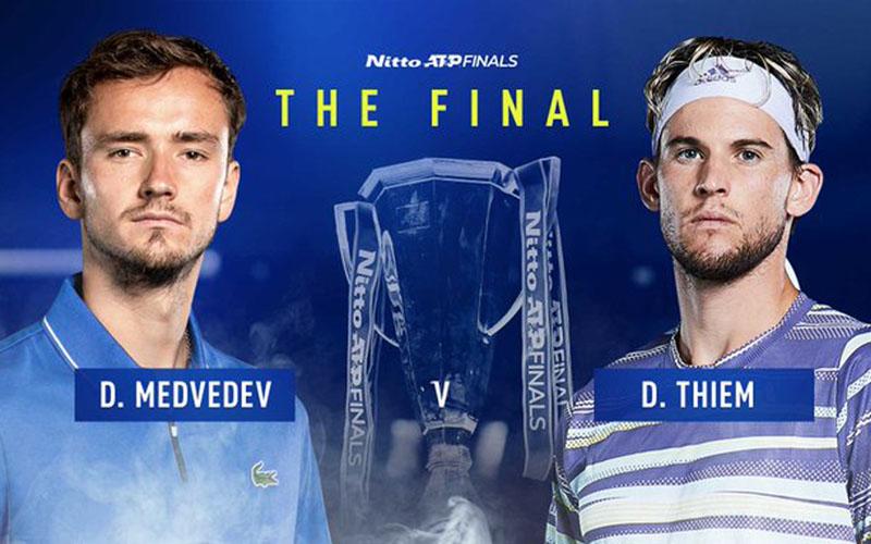 Daniil Medvedev vs Dominic Thiem di laga puncak ATP Finals. - ATP Tour