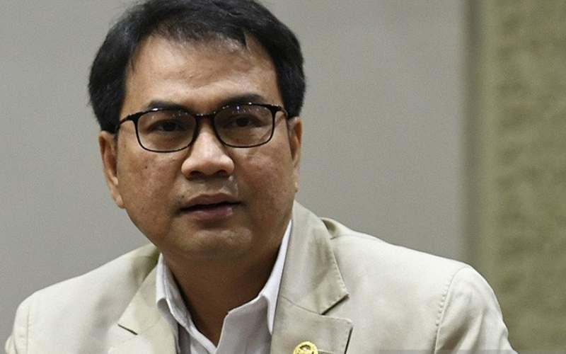 Wakil Ketua DPR-RI Aziz Syamsuddin. ANTARA FOTO/Puspa Perwitasari - aa.