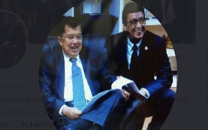 Jusuf Kalla dan Husain Abdullah. JIBI - Bisnis/Nancy Junita @husainabdullah1