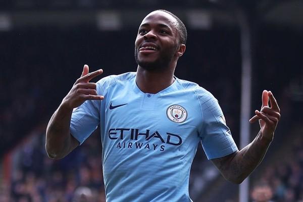 Penyerang Manchester City Raheem Sterling - Premier League
