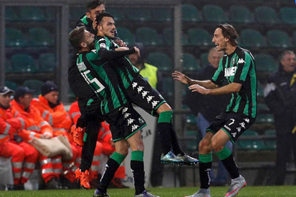 Para pemain Sassuolo/Reuters - Giampiero Sposito