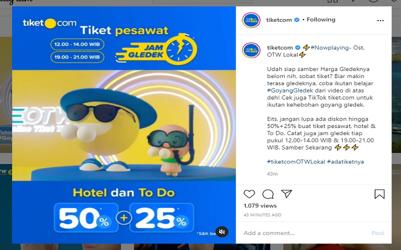 Tiket.com menggelar promo tiket pesawat dan hotel murah
