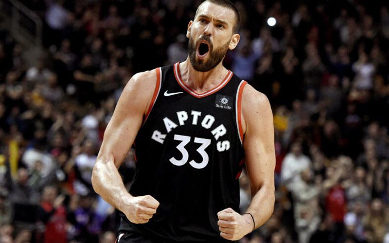 Pebasket Marc Gasol saat bermain untuk Toronto Raptors. - NBA.com