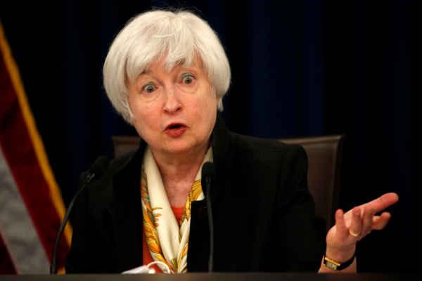 Mantan Gubernur Federal Reserve AS Janet Yellen. REUTERS - Kevin Lamarque