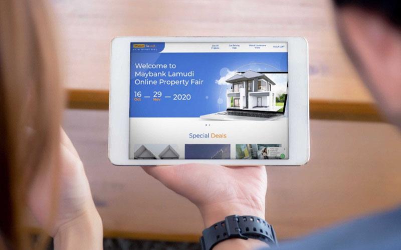 Maybank Lamudi Online Property Fair. - Istimewa