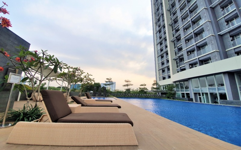 Salah satu fasilitas yang ada pada apartemen di kawasan Ciputra International di Puri Kembangan, Jakarta Barat. - Istimewa