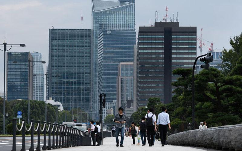 Pejalan kaki di Tokyo, Jepang./Bloomberg - Akio Kon