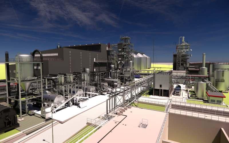 Fasilitas corn wet mill dan starch dryer di pabrik pemanis Cargill di Pandaan, Indonesia. - istimewa