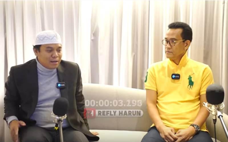 Tangkapan layar video bincang-bincang Refly Harun (kanan) dan Gus Nur - Youtube/Refly Harun