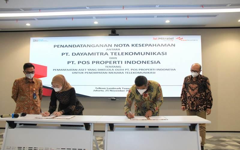 MoU Mitratel dengan Pos Properti Indonesia