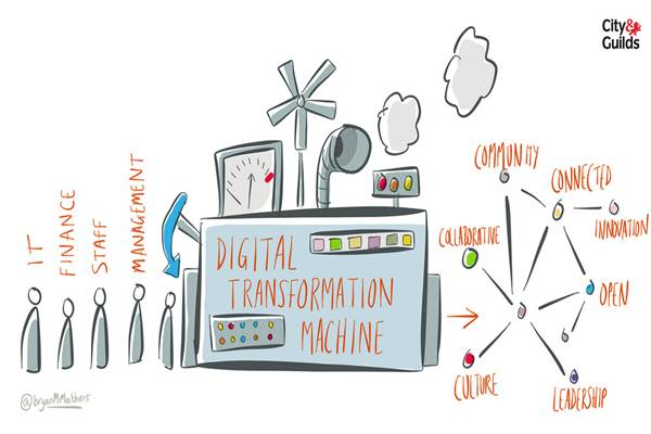 Ilustrasi transformasi digital - Flickr