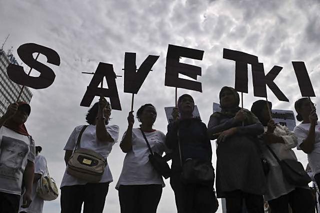 Ilustrasi - Aksi peduli tenaga kerja INdonesia. - JIBI