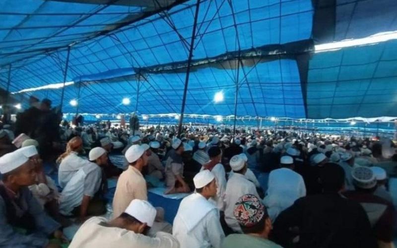 Peserta Ijtima Dunia 2020 Zona Asia di Kecamatan Bontomarannu, Kabupaten Gowa, Sulawesi Selatan. ANTARA/HO - Int